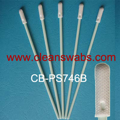CB-PS746B Middle Handle Reticulate Polyester Swabs